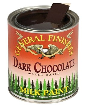 General Finishes Milk Paint Dark Chocolate QUART