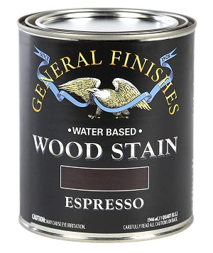 General Finishes Water Based Wood Stain - Espresso Quart