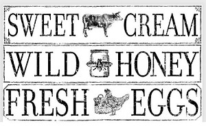 "Farm Fresh Signage Decor Transfer (14.25""24"")"