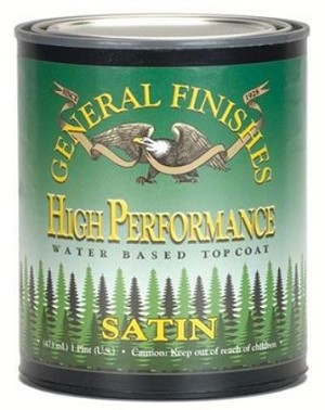 General Finishes High Performance Polyurethane Water Based Top Coat in Satin - Quart