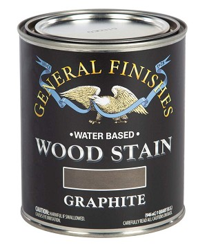 General Finishes Water Based Wood Stain - Graphite Pint