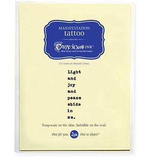 """Light and Joy"" Temporary Tattoo (1.5"" x 2.5"") - 2 Pack"