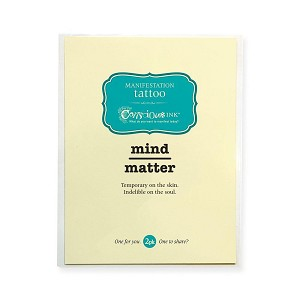 """Mind Over Matter"" Temporary Tattoo (1.5"" x 1.5"") - 2 Pack"