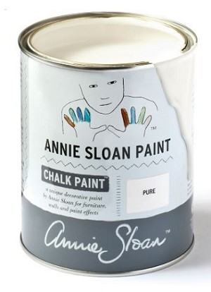 Pure White Chalk Paint® Litre (NOTE the paint is slightly thicker)