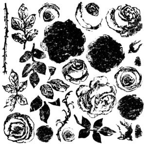 Painterly Roses Decor Stamps (12x12)