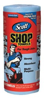Scott Blue Shop Towels 55/roll ~ Awesome for wax removal