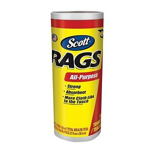 Scott White Shop Rags - 55/ROLL ~ Awesome For Wax Removal on Lighter colored paints