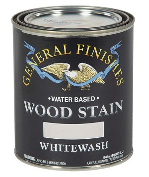 General Finishes Water Based Wood Stain - Whitewash Quart